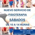 Servicio de FISIOTERAPIA los sábados