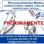 Reconocimientos Médicos (Conductores, Armas, Vigilantes..)