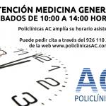 Horario sábados Medicina General