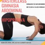 ¡Próximo sábado Masterclass gimnasia abdominal!¡Anímate y apúntate!